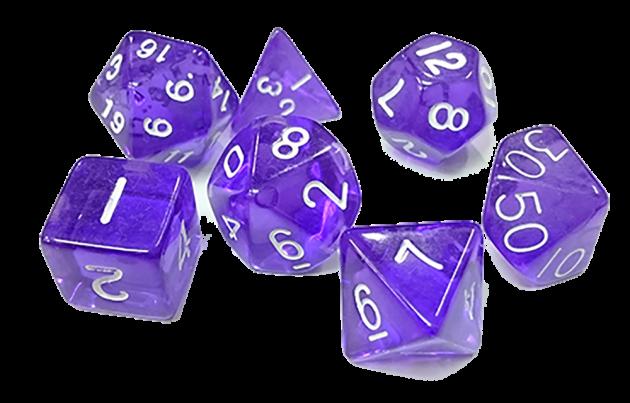 透明套骰-紫色 1